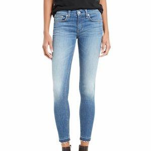 RAG & BONE Capri Skinny Jeans In Clean Lilly Dale